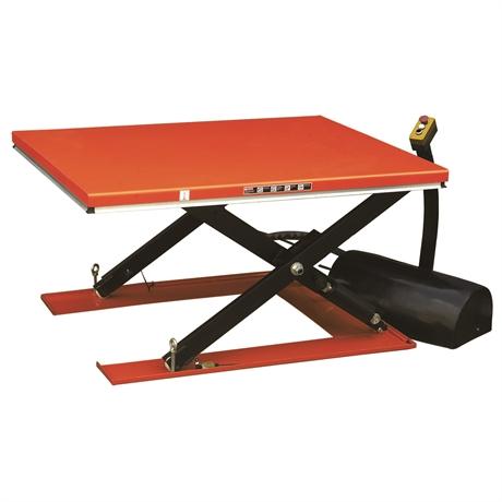 HY1004/380V - Table élévatrice électrique extra-plate 1000 kg dimensions plateforme 1600 x 800 mm