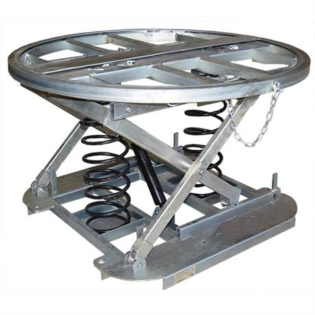 Table élévatrice à niveau constant galvanisée plateau rotatif 2000 kg