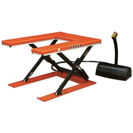 Table élévatrice électrique plateau en U 1000 et 1500 kg
