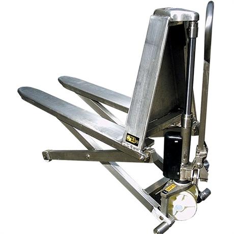 Transpalette manuel haute levée inox 316 1000 kg