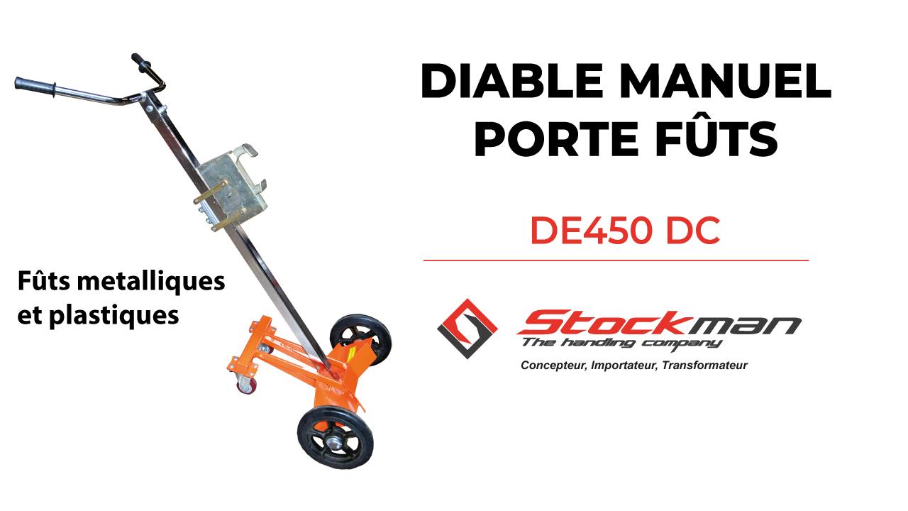 DE450 Metal and Plastic Drum Hand Truck