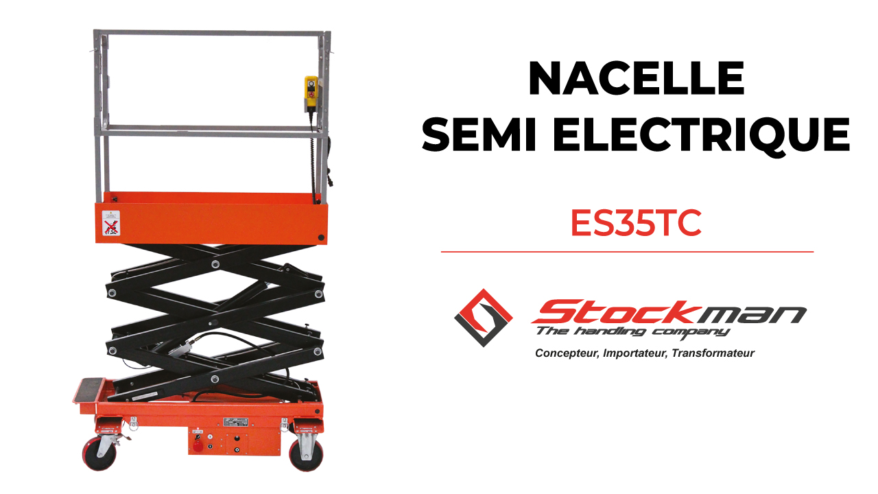The ES35TC: compact and lightweight semi-electric scissor access lift