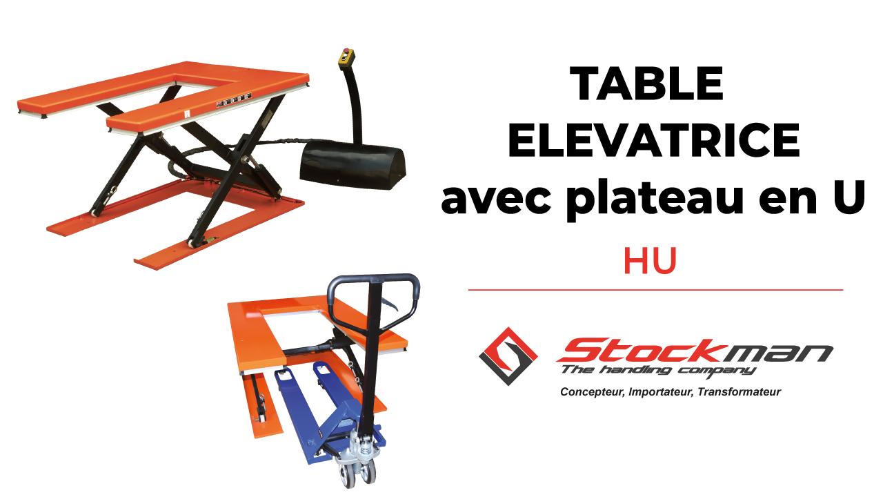 The electric lifting table with U-shaped platform HU