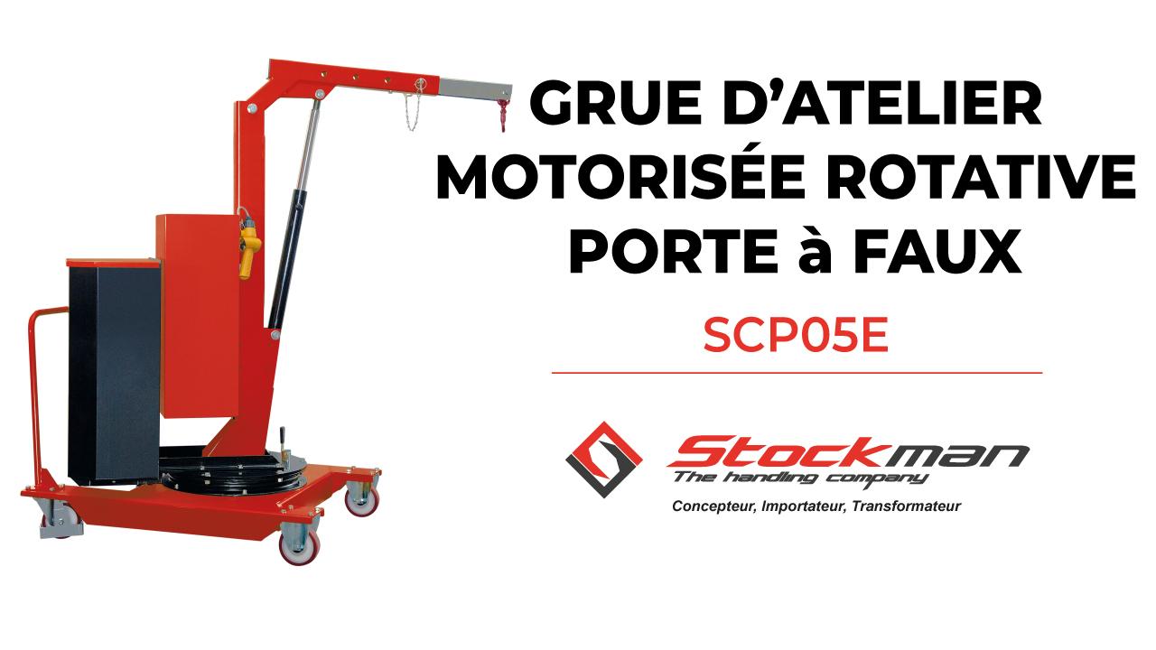 Les grues d'atelier motorisées rotatives porte-à-faux SCP (manuelles et électriques)<br>