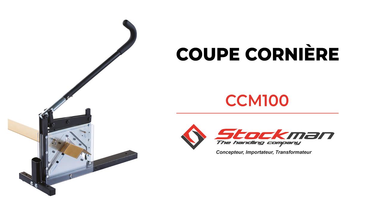 The CCM100 cardboard edge protector cutter
