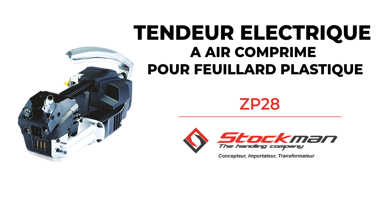 The ZP28 pneumatic tensioner for plastic strapping