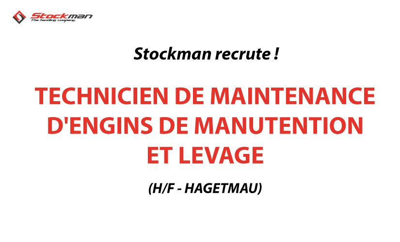 TECHNICIEN DE MAINTENANCE D'ENGINS DE MANUTENTION ET LEVAGE (H/F)