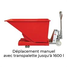 Benne autobasculante 300 à 3000 litres -