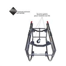 Chariot porte-fût basculant acier 300 kg -