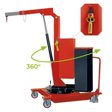 Grue d'atelier porte-à-faux rotative à élévation électrique 500 kg -