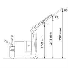 Grue d'atelier porte-à-faux motorisée 1000 kg -